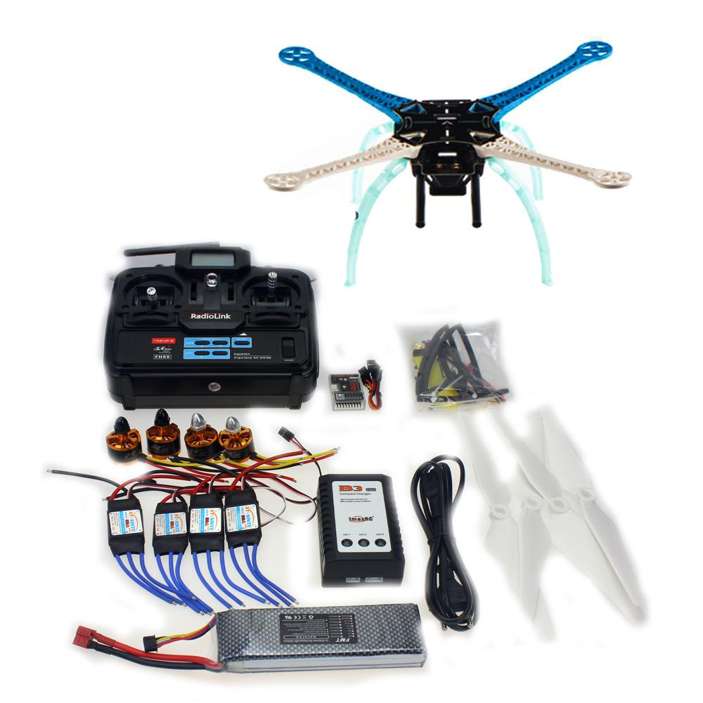 цены  F08191-K DIY  Drone QQ Controller Version  Radiolink T6EHP-E 2.4G TX&RX  S500-PCB  Multi-Rotor Frame Full Kit   Motor ESC