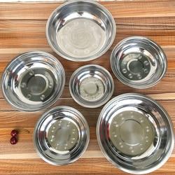 Misa ze stali nierdzewnej DIY ciasto chleb sałatka mikser obiad okrągły zupa miska do ryżu płyta kuchnia narzędzia kuchenne 6 rozmiar 14-24cm