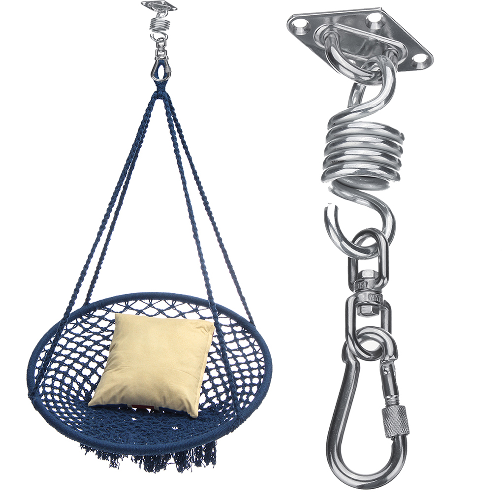 Hanging Chair Bolt Stryker 5050 Stretcher 2019 Stainless Steel Hammock Kit Spring Rotating Package Included 1 Ceiling Mounting Plate Snap Hook Swivel 4 Screws Shield Bolts
