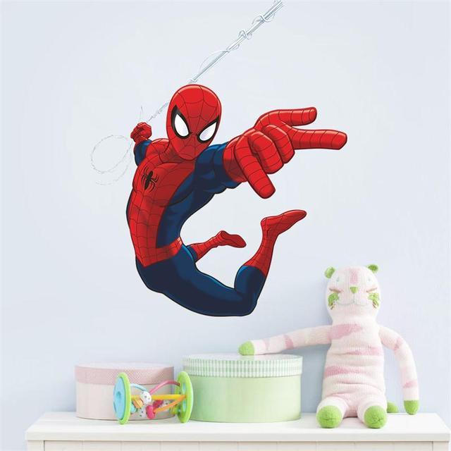 Mais novo Projeto Bonito Do Homem Aranha Adesivos Decorativos De Parede Para Crianças Meninos sala de Arte Da Parede do Decalque Home Decor Festa Toy Engraçado PVC Mural