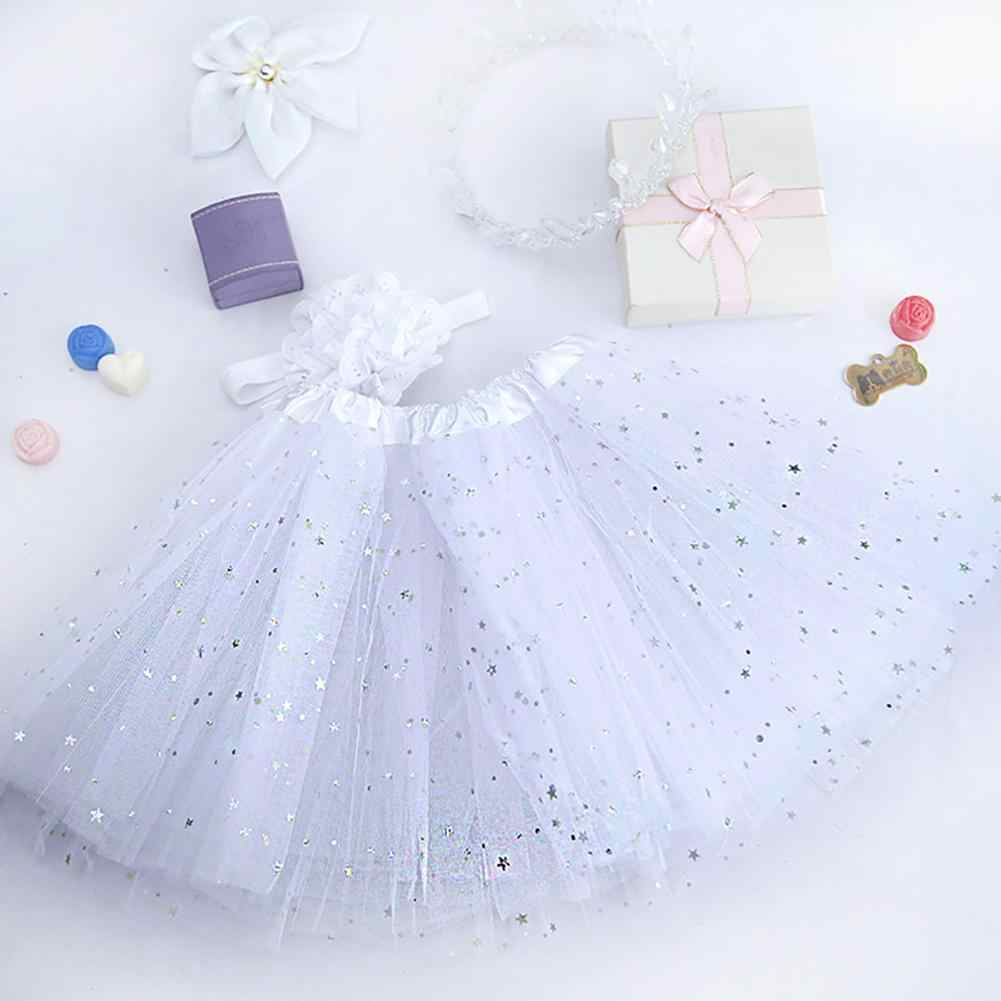 Toddler bebek kız yıldız Sequins örgü bebek tutu etek kafa bandı fotoğraf kostüm için yenidoğan bebek kız etekler bebek kadın kostümü