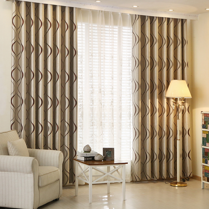 Buy new blackout curtain fabric bedroom for American window design