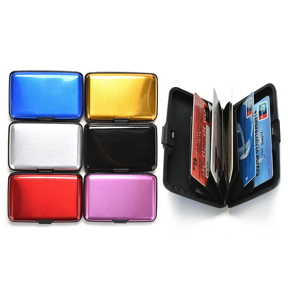 1pcs stainless steel Aluminum Business card case Holder Metal Box ...