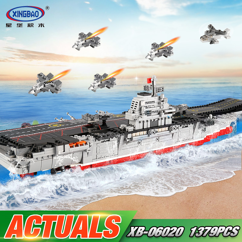 XINGBAO 06020 Military Series The New Star Toys Wars Aircraft Ship Set Building Blocks Bricks Educational