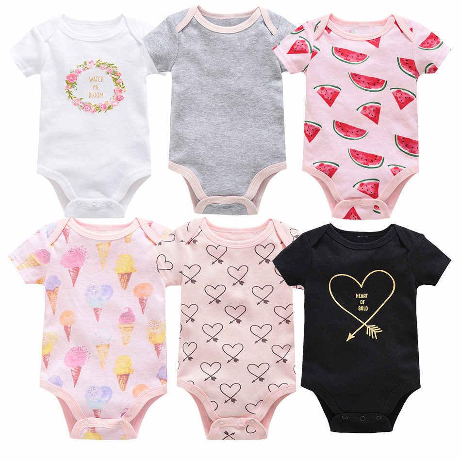 248d23ba9 ... Kavkas 3PCS 6PCS Baby Boy Bodysuit Jumpsuits Short Sleeve Summer Baby  Girl Bodysuits for Newborns Baby ...
