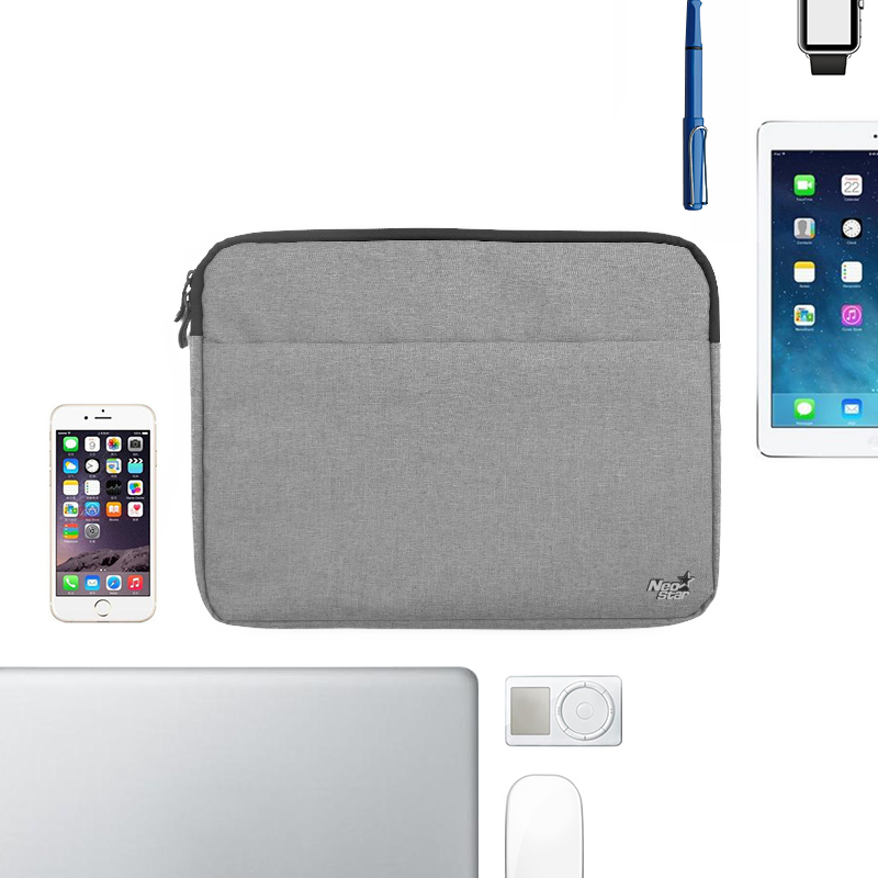 Canvas Sleeve Laptop Bag For Macbook Air 11 12 13 15 Inch Zipper Case - Նոթբուքի պարագաներ - Լուսանկար 4
