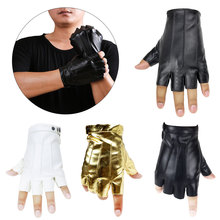 Men Gloves Leather Fingerless Gloves 2019 New Tactical Male Semi-finger Protective Ride Non-slip Mitts Wear-resisting veterinary mitts 0 35mmpb end opened gloves veterinary fingerless x ray protective gloves leaky finger gloves lead rubber