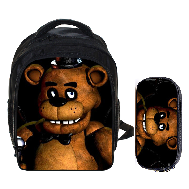 13 Inch Kids Backpack Five Nights At Freddys Children School Bags Boys Girls Daily Backpacks Students Bag Mochila Gift