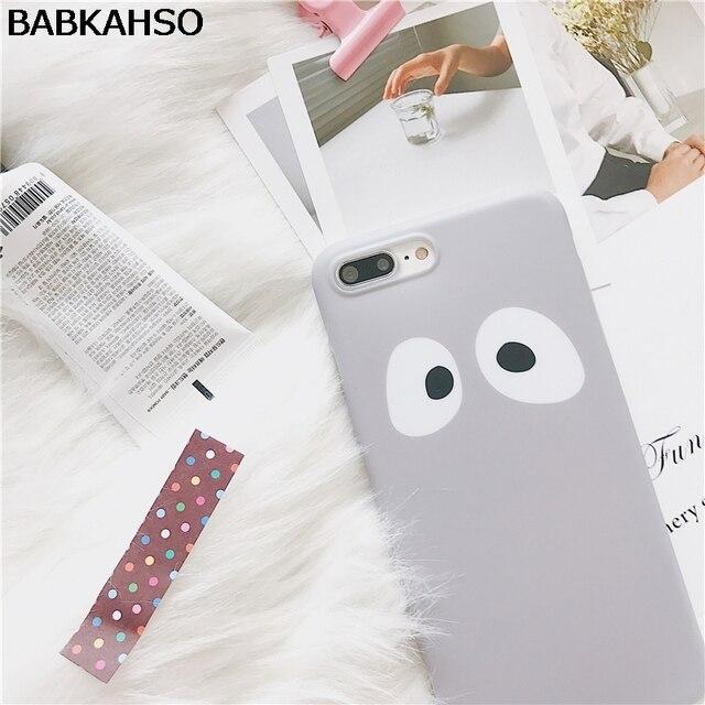 BABKAHSO South Korea big eyes grey Case For iPhone 7...