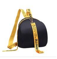 Kpop Lady Casual New Nylon Letter Bag Bag Striped Pendant Decoration Shoulder Bag Trend Ladies Travel