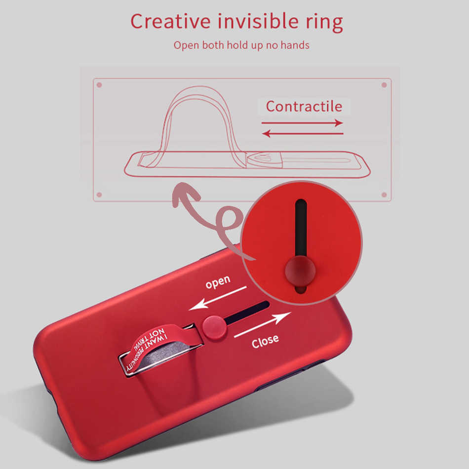 Funda de moda con soporte para OPPO F9 F7 F5 funda con lazo de dedo para OPPO A3S A5 A3 Realme 2 pro ocultar soporte casos
