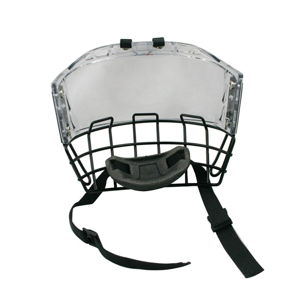 2016 Ice hockey helmet kids mask CE approval with visor and metal cage combination
