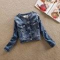2016 новая коллекция весна и лето уличный стиль рукав короткий параграф сделать старый стиральная джинсовая одежда женская куртка пальто