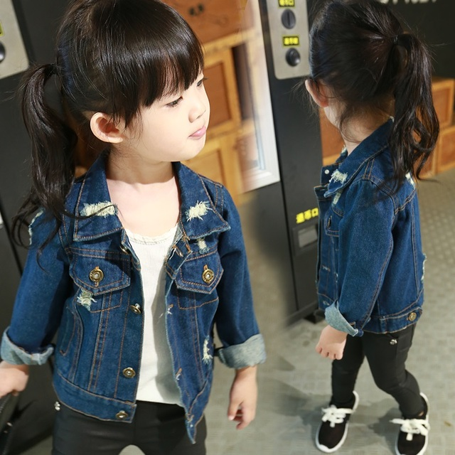 e2b386d98f63 Baby Girls Denim Jacket New Spring Autumn Kids Jacket for Gilrs ...