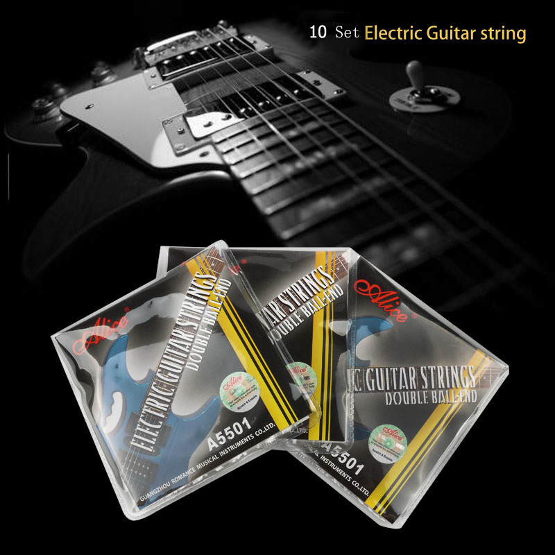 Double Ball End Electric Guitar Strings Alice Stainless Nickel Alloy Stringing for Headless Guitarra Wholesale