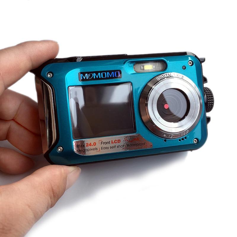 HTB1YRLderGYBuNjy0Foq6AiBFXa5 Waterproof Digital Camera Dual Screens (Back 2.7 inch + Front 1.8 inch) HD 1080P 16x Zoom Camcorder Cam  DC998