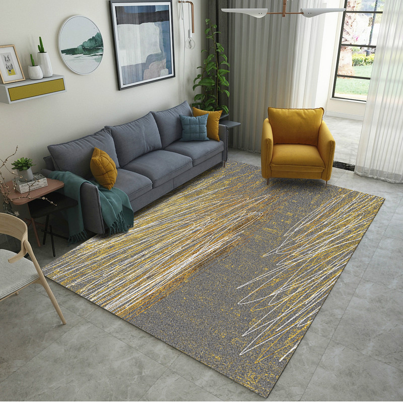 Nordic Geometric Art Super Soft Flannel Carpets for Living Room Chair Mat Bedroom Carpet Area Rugs Kids Room Non-slip Blanket