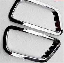 ABS Chrome автомобилей передних противотуманных фар Крышка лампы отделки задних противотуманных фар Крышка лампы отделкой для Zotye T6002014 2015 автомобиля стиль