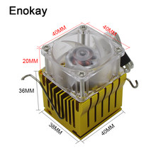 Enokay 2Set Gouden Diy Northbridge Heatsink Chipest Koeler Radiator 40X38X36 Mm Met 40 Mm X 20 Mm Koelventilator 4020(China)