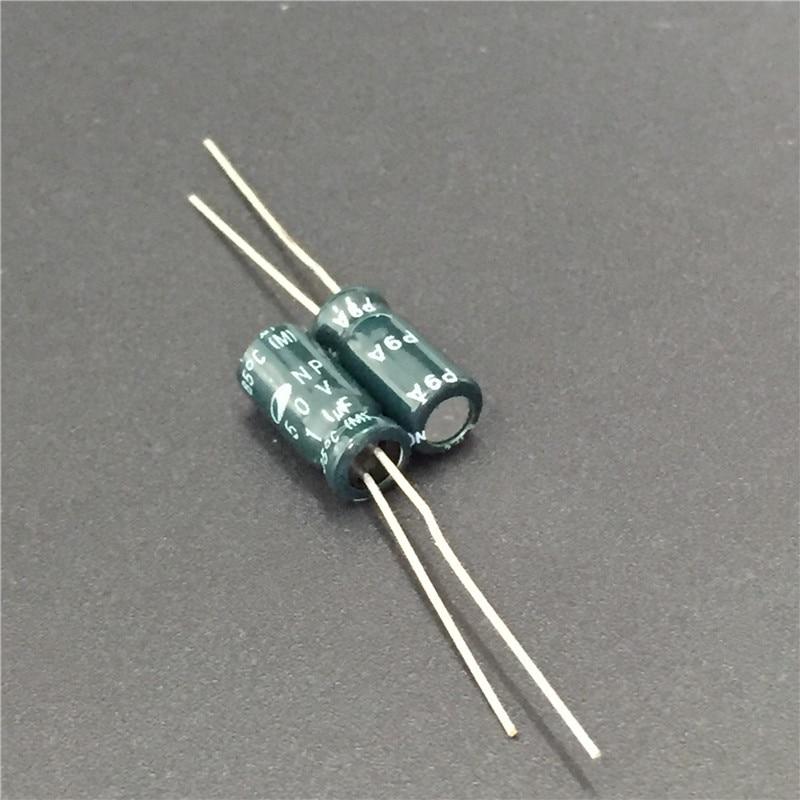 10pcs 1uF 50V SAMWHA NP 5x11mm 50V1uF Bipolar Electrolytic Capacitor