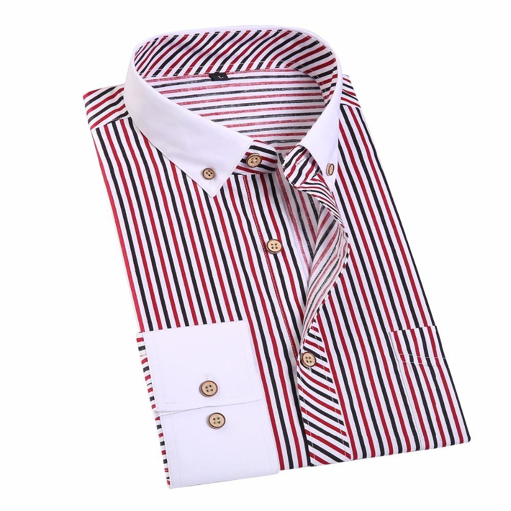 Jeetoo striped men dress shirt business formal men 39 s for Mens dress shirts cufflinks