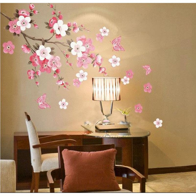 Popular Plum Wall StickersBuy Cheap Plum Wall Stickers Lots From - How to make vinyl wall decals at home