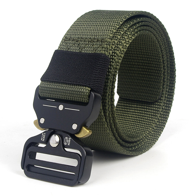 Tactical Belt Men Adjustable Heavy Duty Military Tactical Waist Belts with Metal Buckle Nylon Belt Hunting Accessories 6
