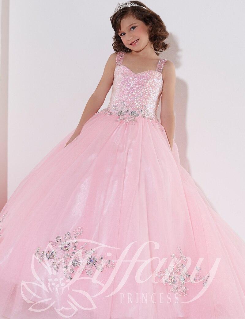 Pink Princess Kids Prom Dress Children Pageant Dresses for Little ...