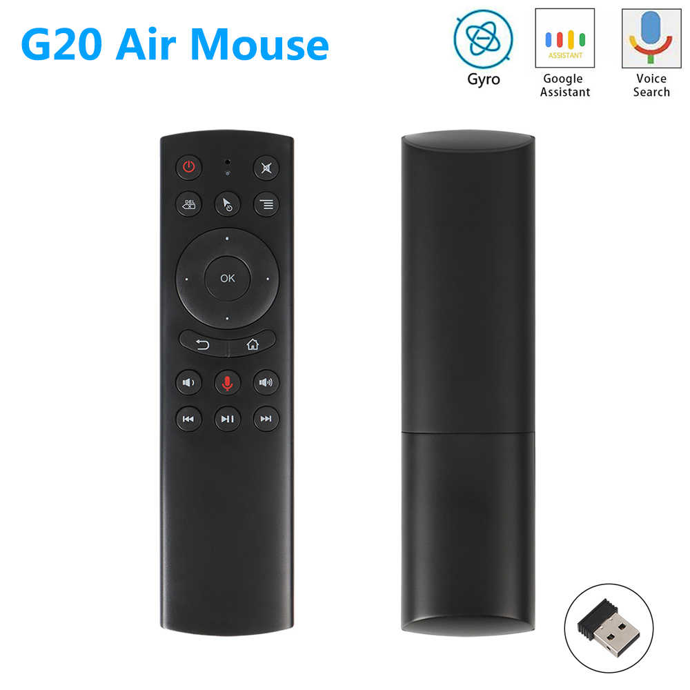 G20 G20S Gyro Smart Voice Remote Control IR Belajar 2.4G Wireless Fly Air Mouse untuk X96 Mini H96 MAX x99 Android TV Box Vs G10