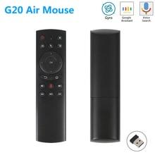 G20 G20S Gyro voix intelligente télécommande IR apprentissage 2.4G sans fil mouche Air souris pour X96 Mini H96 MAX X99 Android TV Box vs G10