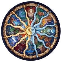 5D DIY Алмазная мозаика картина Мандала полный дрель круглый горный хрусталь гороскоп вышивка искусство комплект солнце бог наклейки украшения дома