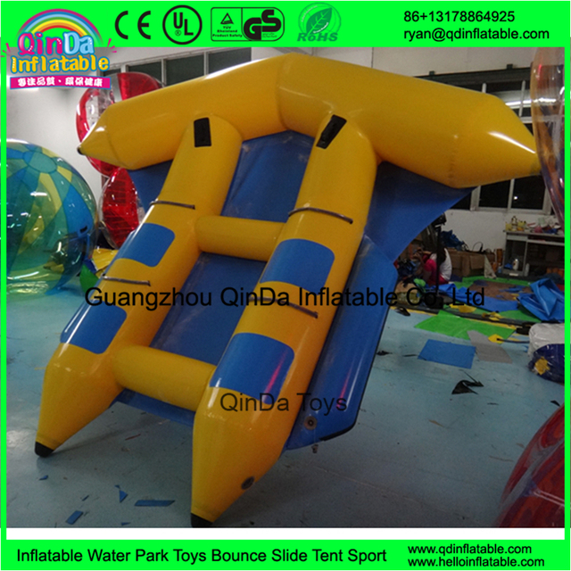 Double Tubes inflatable flying fish boat/Inflatable banana towable flyfish for sale