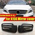 GLA X156 крыло дверь зеркальная крышка 2 шт. настоящий углерод волокна черный 1:1 замена для Mercedes GLA180 GLA200 GLA250 GLA45 Стиль 15-16