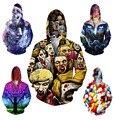 Engraçado comprimido/walking dead Natal/Neve Árvore de impressão 3d camisola dos homens/mulheres casacos de inverno casual harajuku gráficos hoodies encapuzados