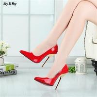 HSM Plus 40 45 46 47 48 49 Zapatos Mujer 14cm Metal Thin Heels Women S