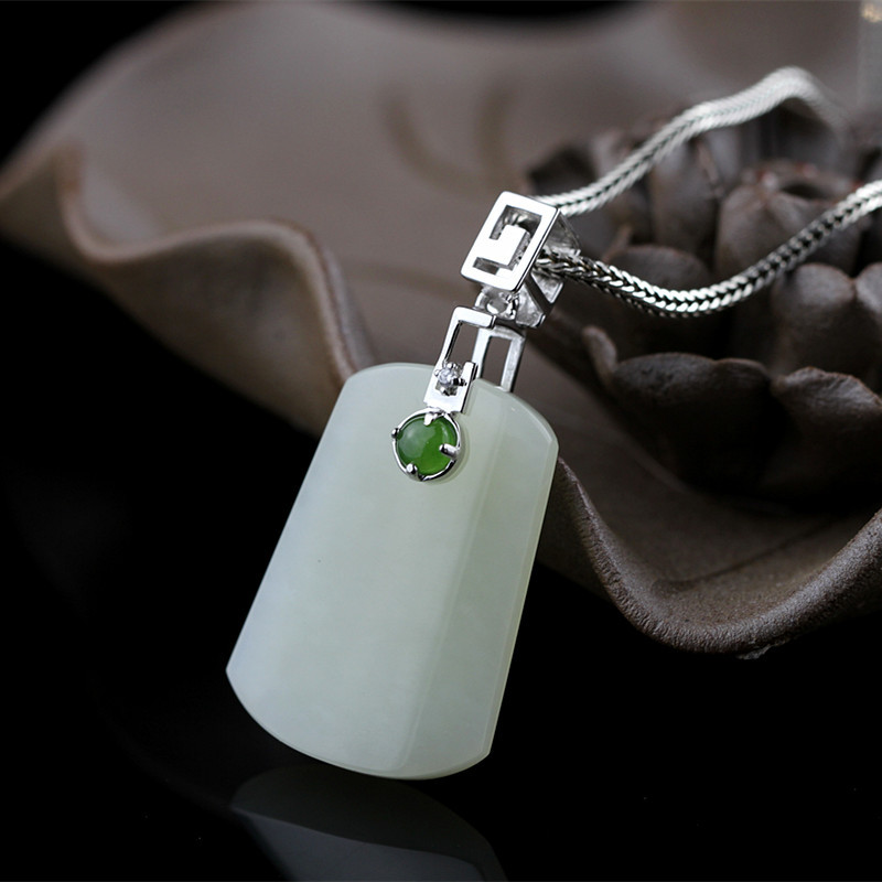S925 sterling silver jewelry fashion boutique womens natural and nephriteS925 sterling silver jewelry fashion boutique womens natural and nephrite