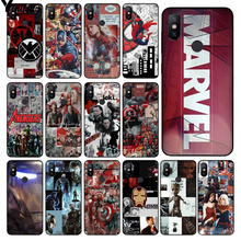 Yinuoda Marvel Avengers  TPU Soft Silicone Black Phone Case for Xiaomi Mi 6 Mix2 Mix2S Note3 8 8SE Redmi 5 5Plus Note4 4X Note5 цена