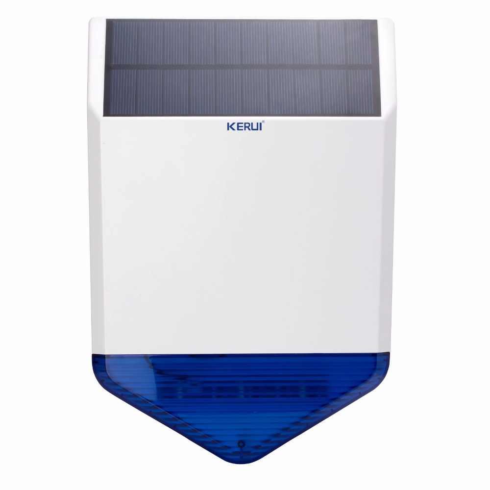 KERUI Беспроводной 433 МГц открытый большой стробоскоп Солнечной Сирена для G19 G18 W2 домашней безопасности GSM сигнализация Системы с мигает ответ