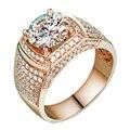 EDICIÓN de Lujo 5 Carat CT Laboratorio Crecido Moissanite Anillo Real 14 K de Oro Rosa Anillo de Compromiso de Bodas de Diamante Para Las Mujeres Regalos de la joyería