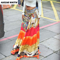Bohemian Skirts 2017 Summer Women's Clothes Big Swing Long Skirts Loose Floor-Length A-Line Female