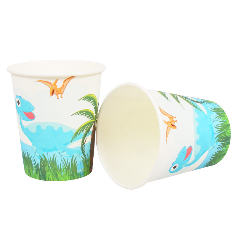 Dinosaur Party Disposable Set Paper Cups Plates Napkins Banners Straws Jungle Theme Birthday Party Decoration Kids Favors Supply