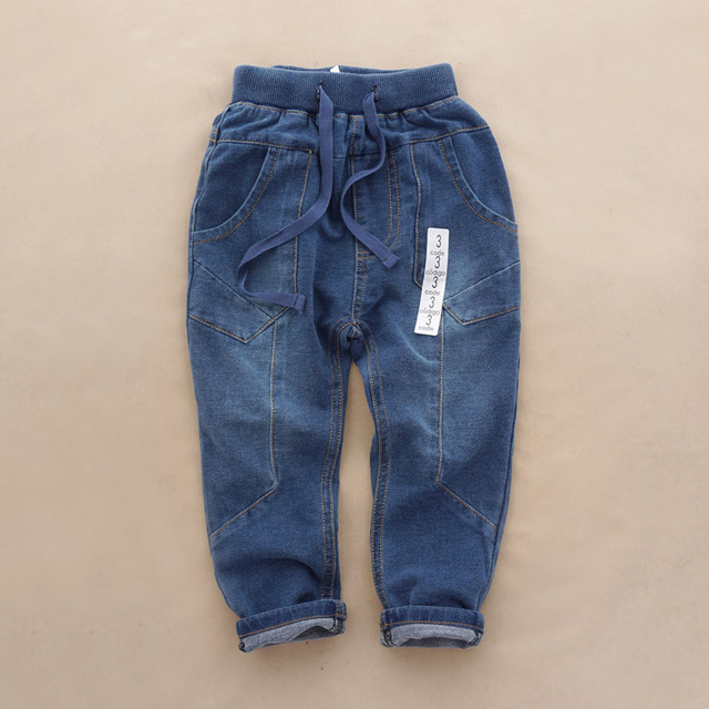 Baby trousers boys pants spring soft Terry Cotton jeans wholesale