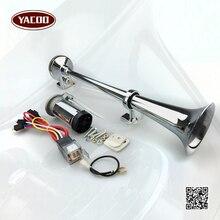 150DB Super Loud 12V/24V Single Trumpet Air Horn Compressor Car Lorry Boat Motorcycle