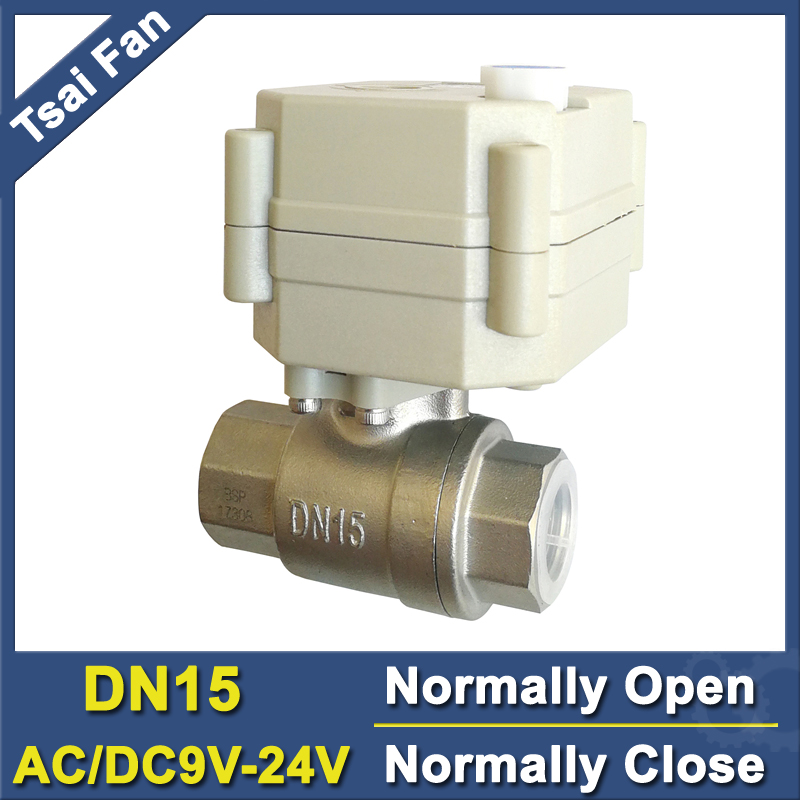 TF15-S2-B DN15 Stainless Steel Normal Close/Open Valve 2/5 Wires BSP/NPT 1/2'' AC/DC9V-24V Electric Water Valve