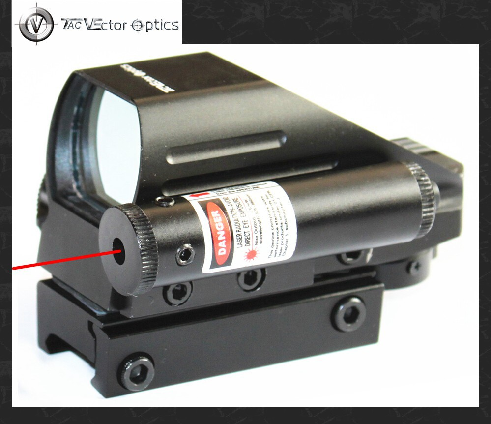 Vector Optics Tomcat 1x22x33 Hunting 4 Reticles Red Green Dot Scope Electro Gun Sight with Side Red Laser Sight Combo fishycat tomcat 67sp dr x09