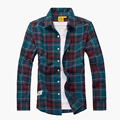 Men shirt high quality brand casual  plaid shirt spring summer Camisa masculina long sleeve shirts brand clothing shirt for men