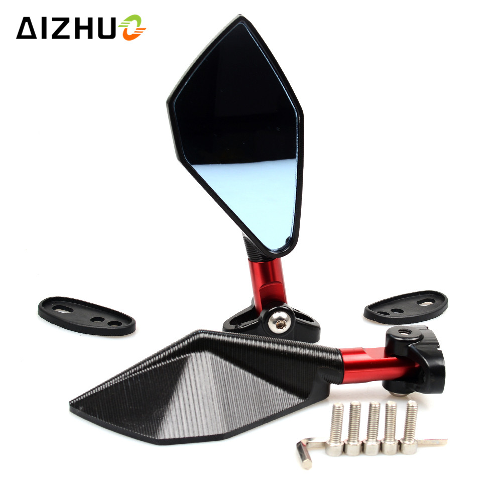 Motorcycle Mirrors Accessories Rear View Side Mirror for KAWASAKI ZX6R ZX7R ZX9R ZX12R ZZR 400 ZX10R