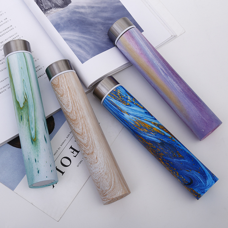 Slim and Insulated Thermal Flask and Vacuum Bottles for Carrying Hot Water and Coffee Outdoor