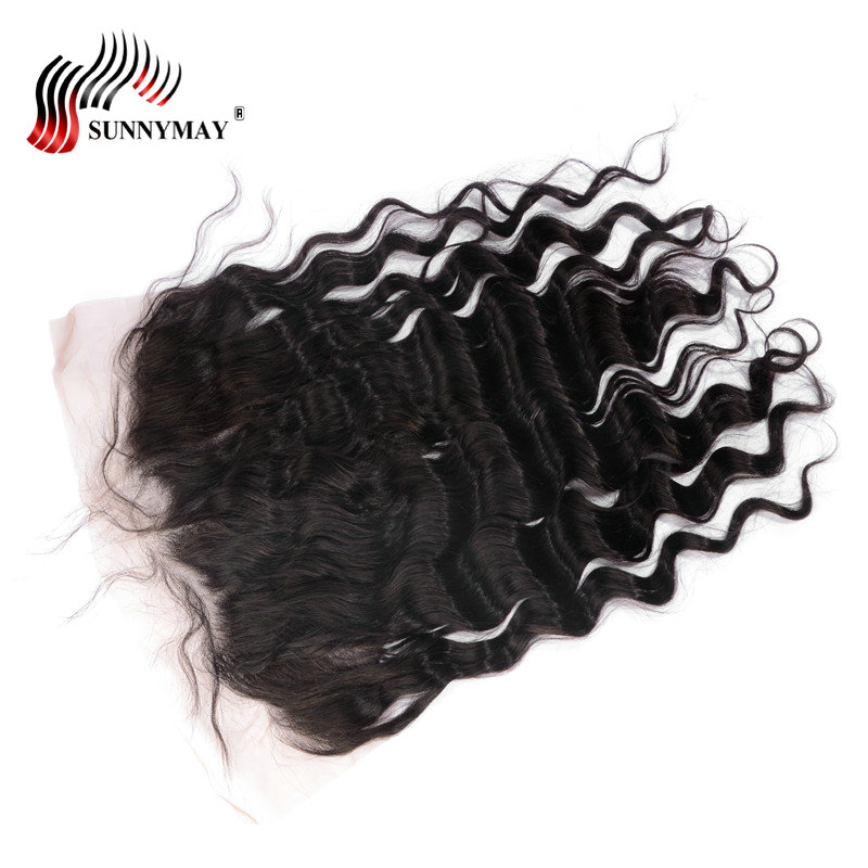 Sunnymay Pre Plucked Lace Frontal 13x6 Ear To Ear Loose Wave Brazilian Virgin Hair Natural Color Free Shipping