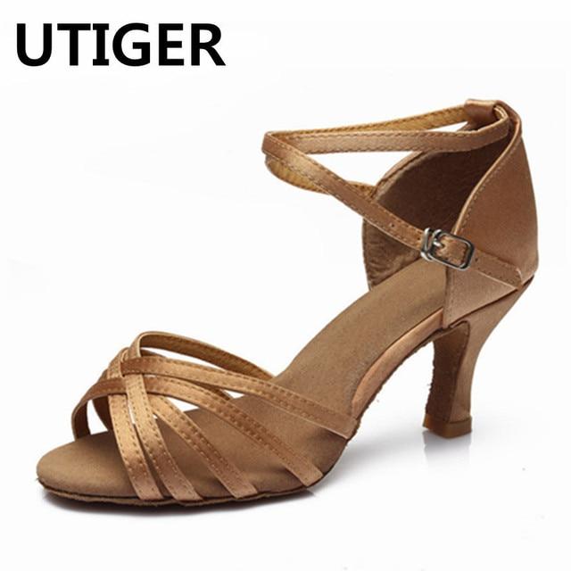 c8cf83a5 Mujeres Salón Latino tango danza Zapatos Niñas salsa Zapatos 5 cm 7 cm talón  Sandalias señora